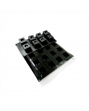 Cubic Black Silicon mould - 60X40, 3cm Diameter Indentation