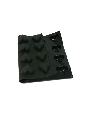 Black Hearts Silicon baking mould