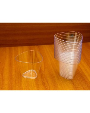 Single Soft Angle Dessert Cups With Lid - 175ml